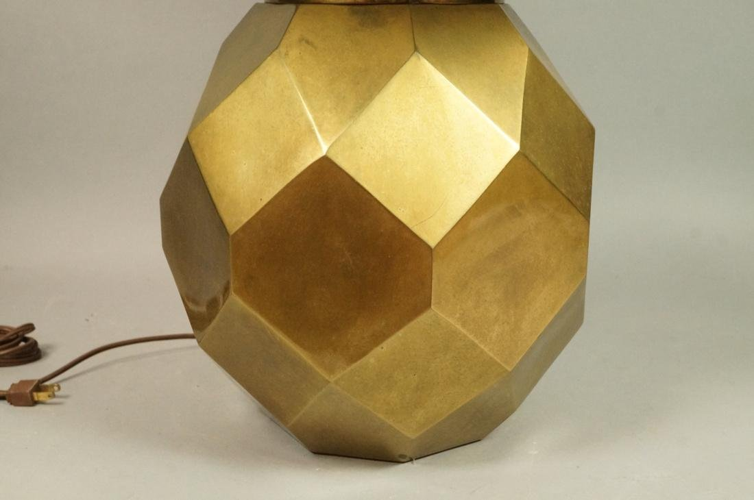 Decorator Faceted Brass Table Lamp. Black shade - 2