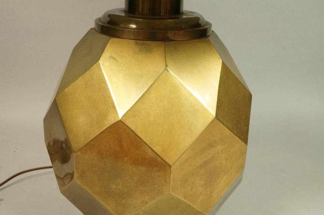 Decorator Faceted Brass Table Lamp. Black shade - 3