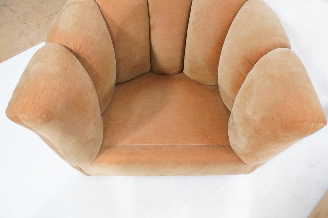 Pr Swivel MILO BAUGHMAN Lounge Chairs.  Pale peac - 6