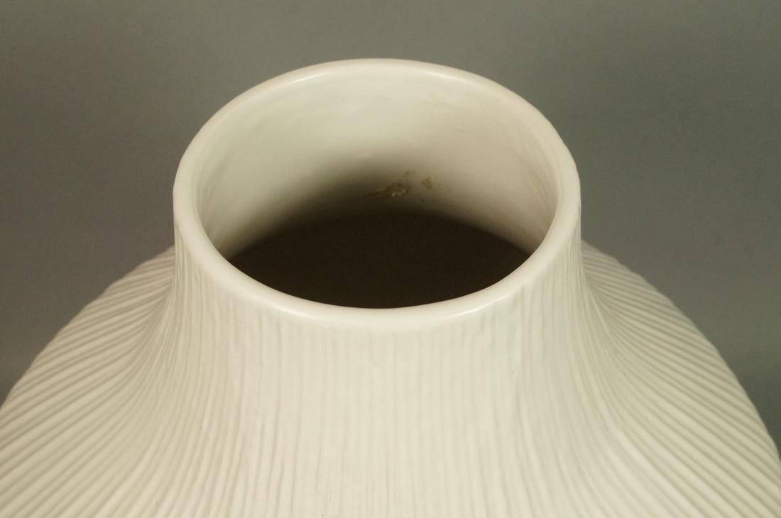 JONATHAN ADLER Oversized Pottery Vessel Vase. Rib - 3
