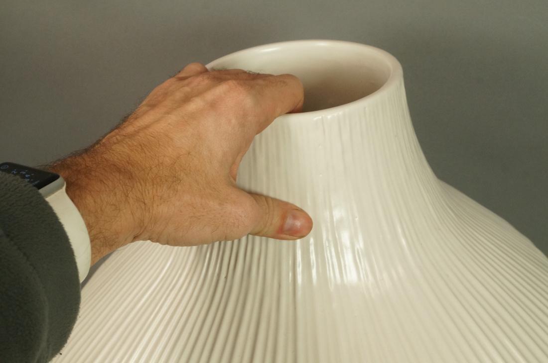 JONATHAN ADLER Oversized Pottery Vessel Vase. Rib - 4