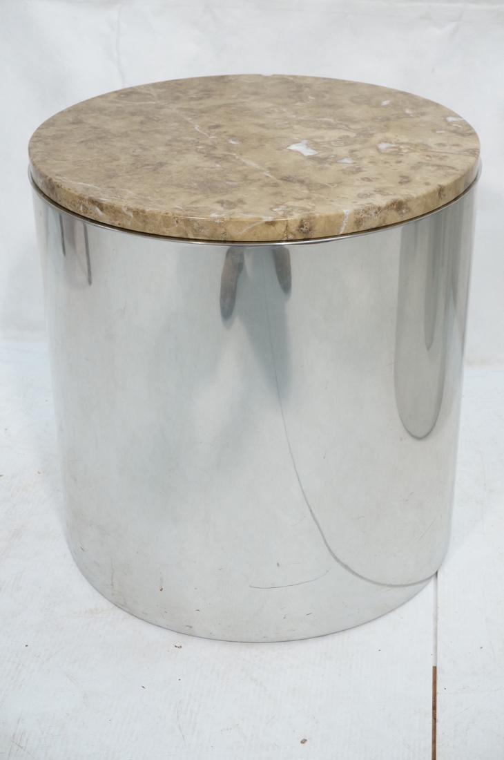 Granite Top Steel Drum Side Tables. Steel cylinde - 2