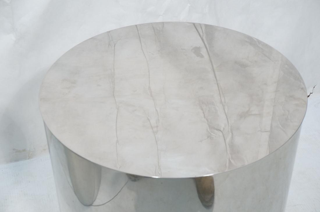 Granite Top Steel Drum Side Tables. Steel cylinde - 8