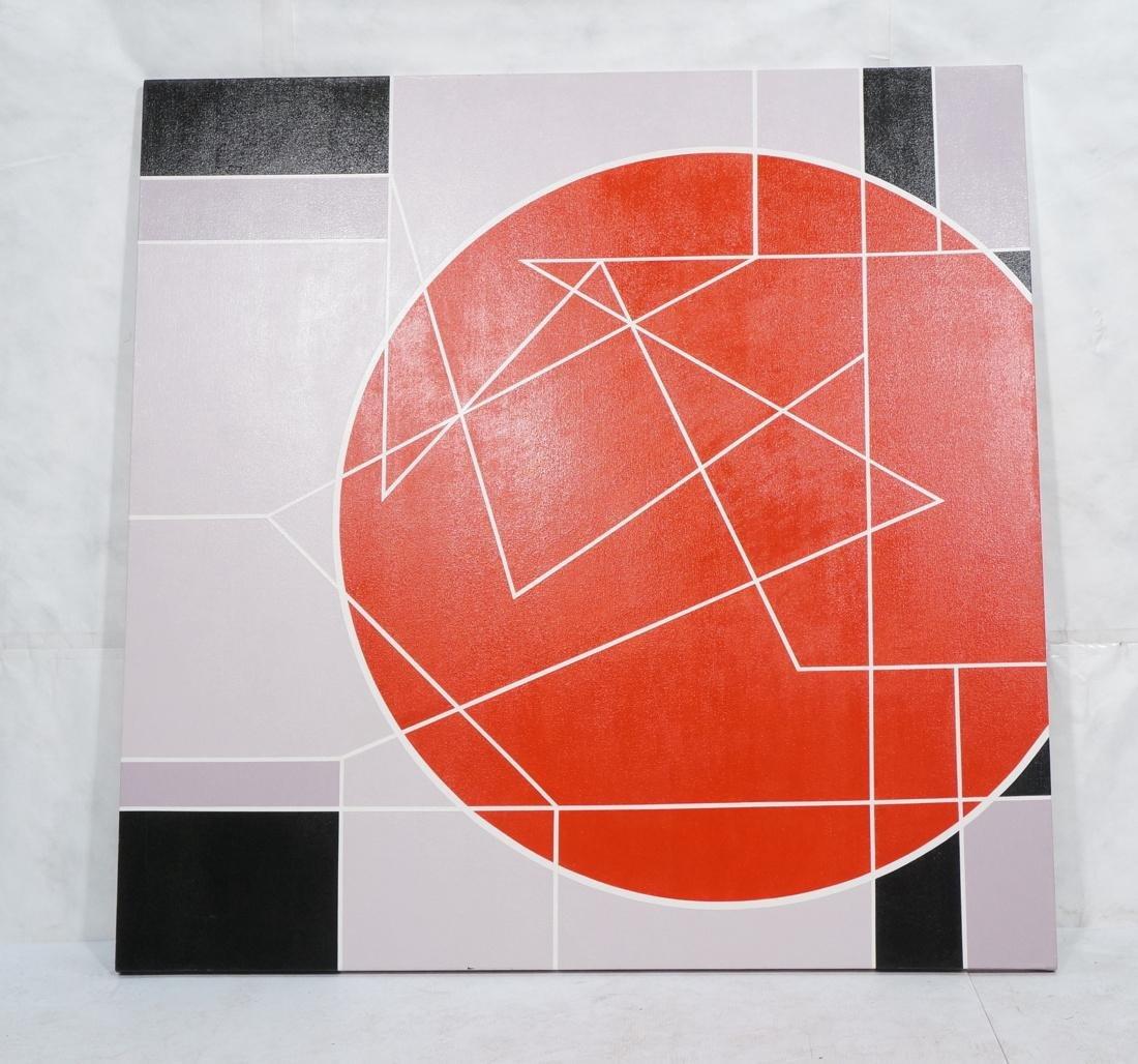 Large Modernist Geometric Oil Painting. Ilya Bolo