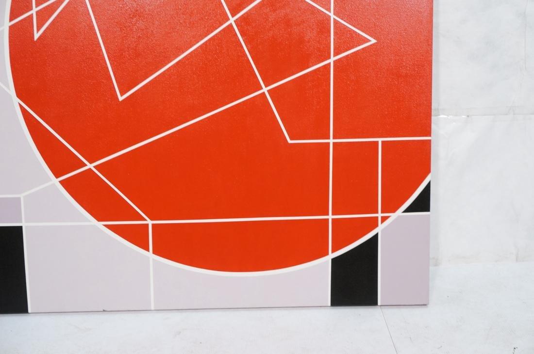 Large Modernist Geometric Oil Painting. Ilya Bolo - 4