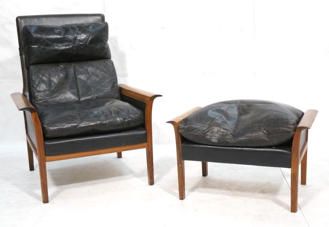 Otto Hans Olsen Rosewood Lounge Chair U0026 Ottoman.