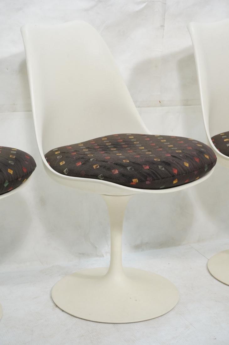 Set 4 EERO SAARINEN for KNOLL Tulip Chairs. Off w - 3