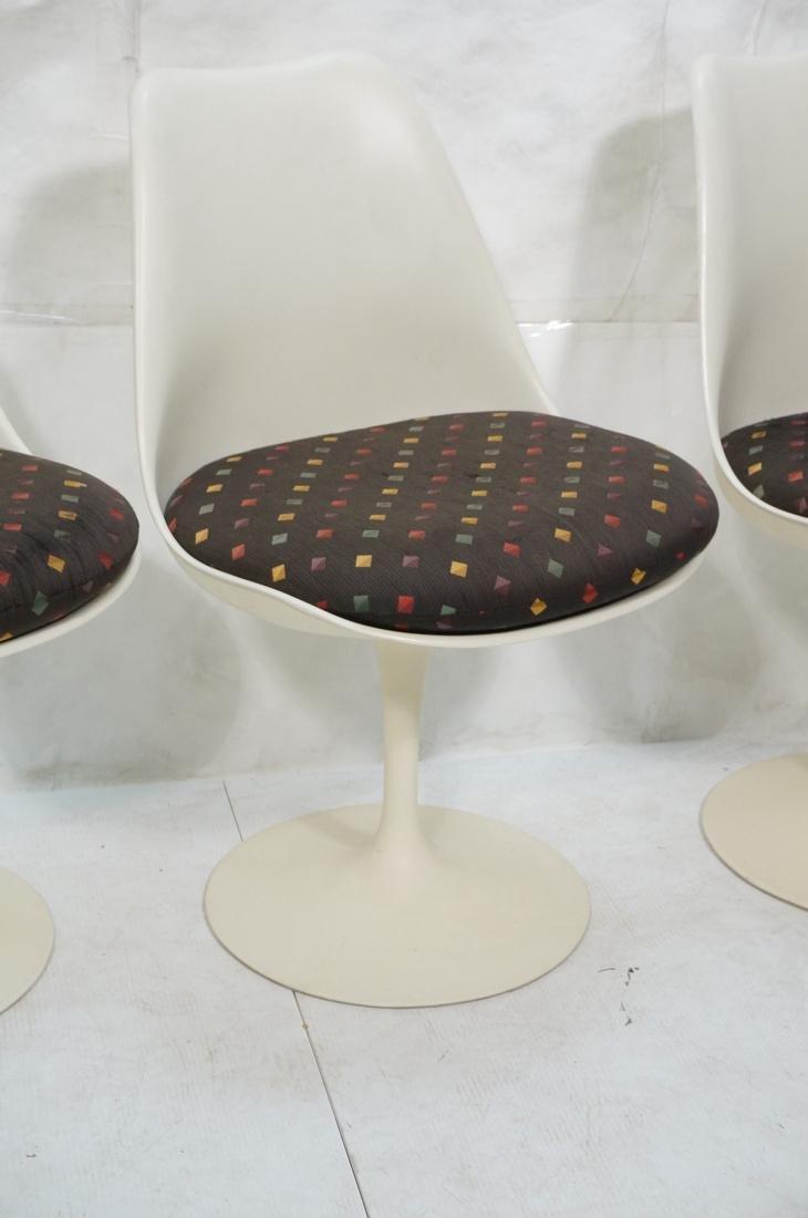 Set 4 EERO SAARINEN for KNOLL Tulip Chairs. Off w - 4