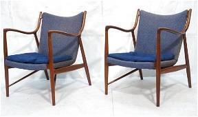 Pr FINN JUHL for ARNE VODDER Danish Lounge Chairs