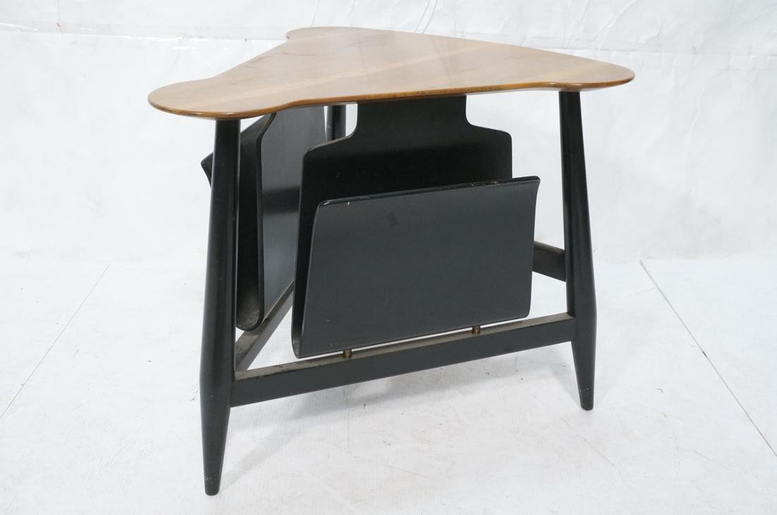 DUNBAR Side Table with Magazine Holders. Walnut t - 2