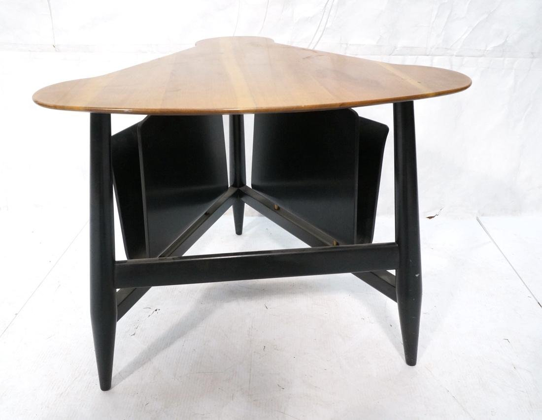 DUNBAR Side Table with Magazine Holders. Walnut t - 7
