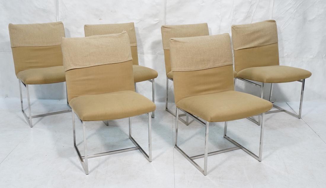 Set 6 MILO BAUGHMAN style Dining Chairs. Thin squ