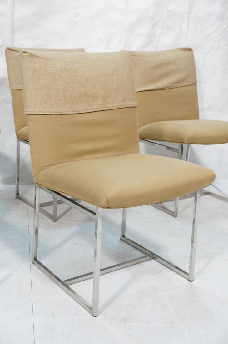 Set 6 MILO BAUGHMAN style Dining Chairs. Thin squ - 3