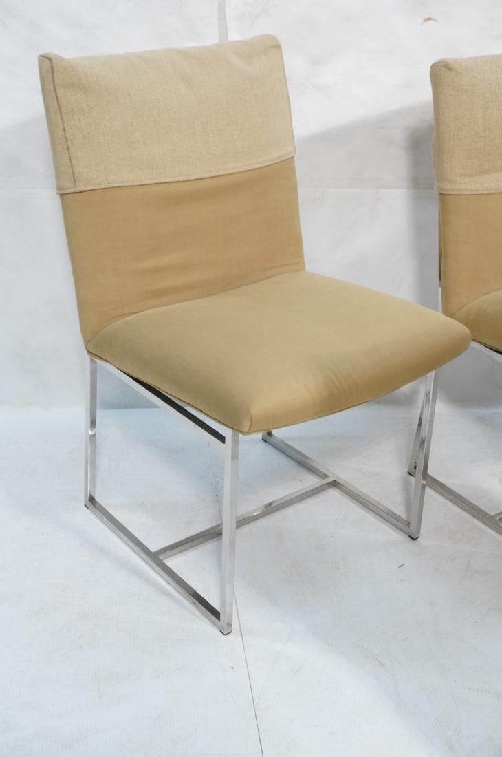 Set 6 MILO BAUGHMAN style Dining Chairs. Thin squ - 4