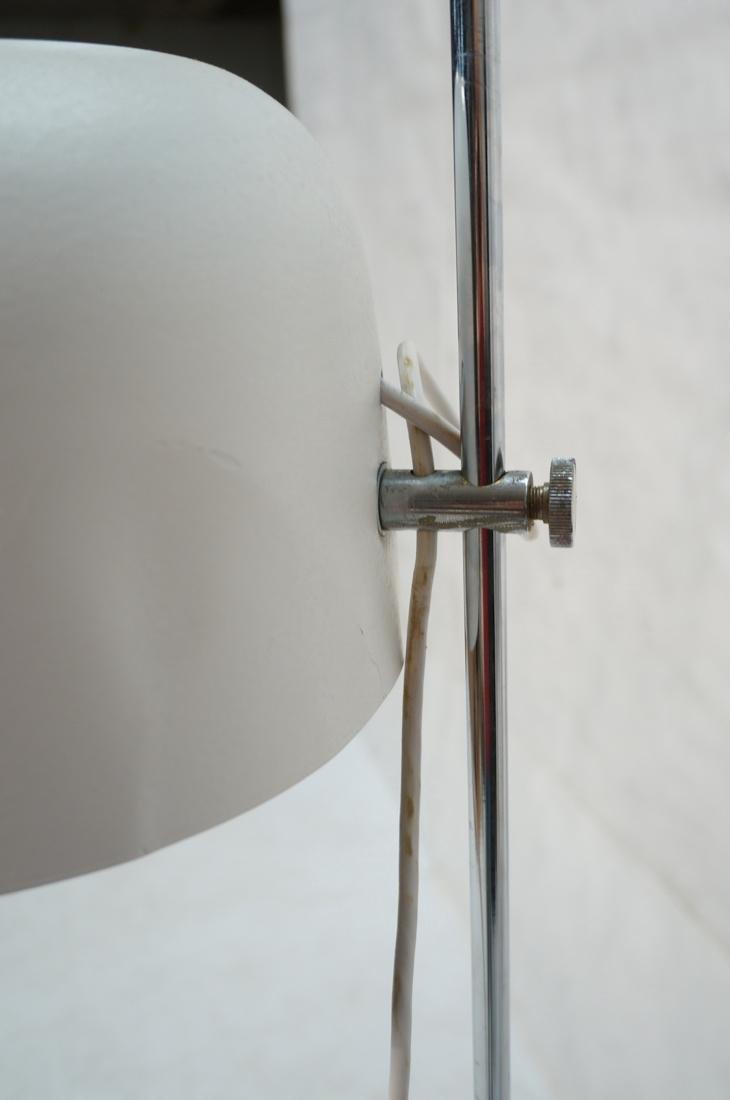 JOE COLOMBO Adjustable Chrome and White Enamel Fl - 4