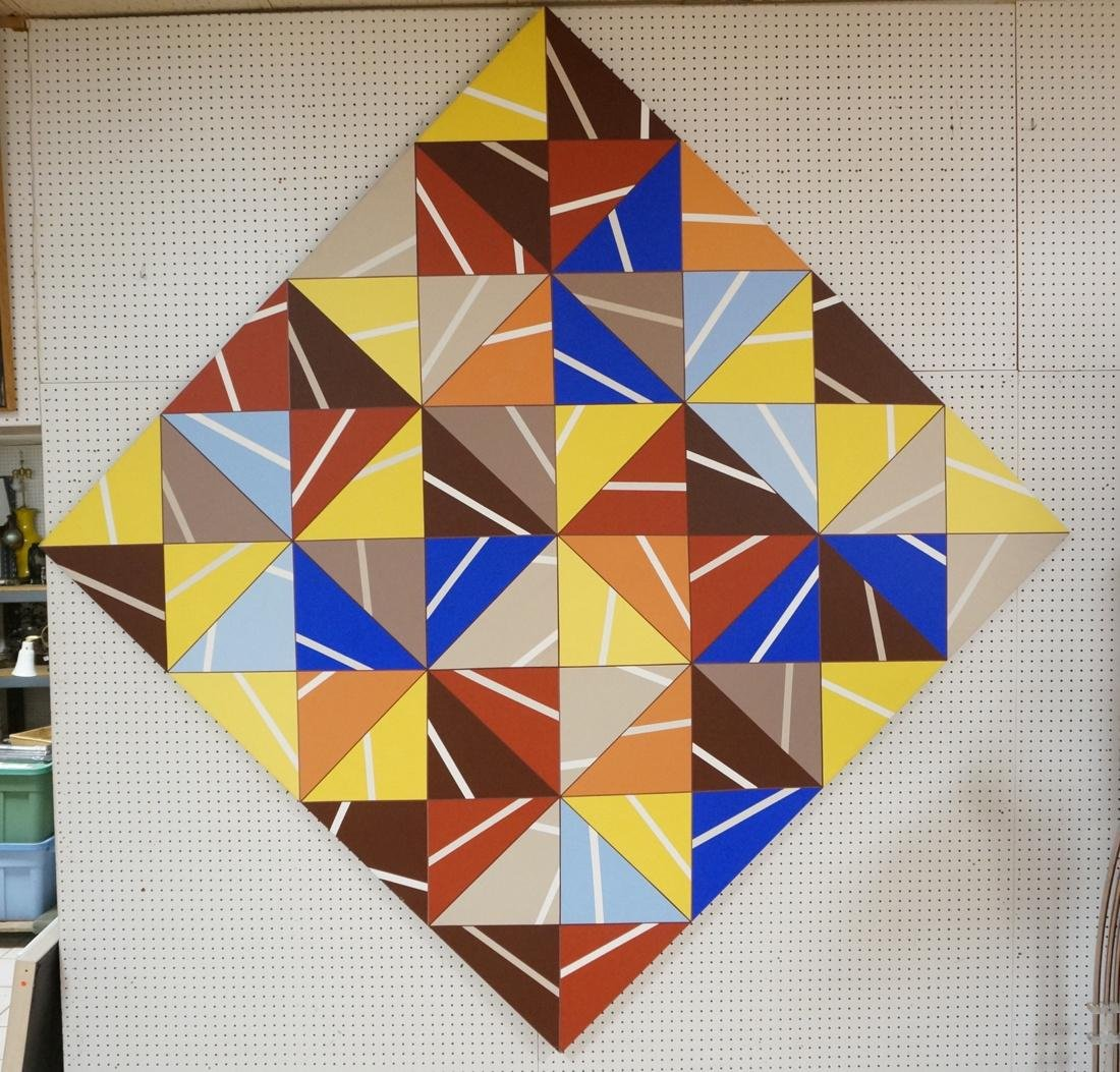 Gigantic Modernist Geometric Painting. Ilya Bolot