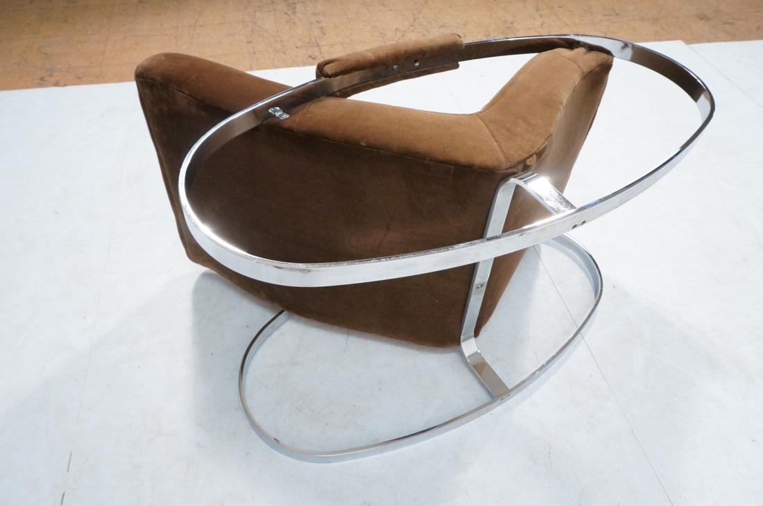 Modernist Heavy Chrome Steel Rocker Rocking Chair - 9