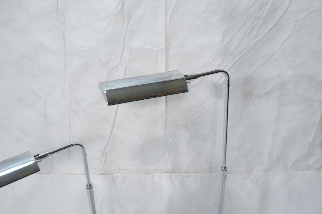 Pr KOCH & LOWY Chrome Modern Floor Lamps. Adjusta - 2