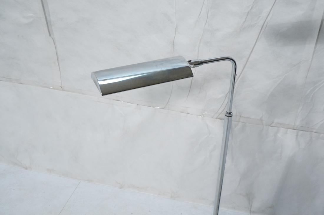 Pr KOCH & LOWY Chrome Modern Floor Lamps. Adjusta - 3