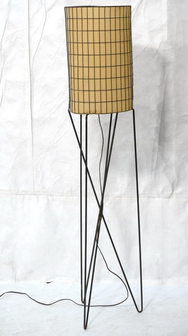 PAUL MAYEN Hairpin Base Floor Lamp. Metal rod gri