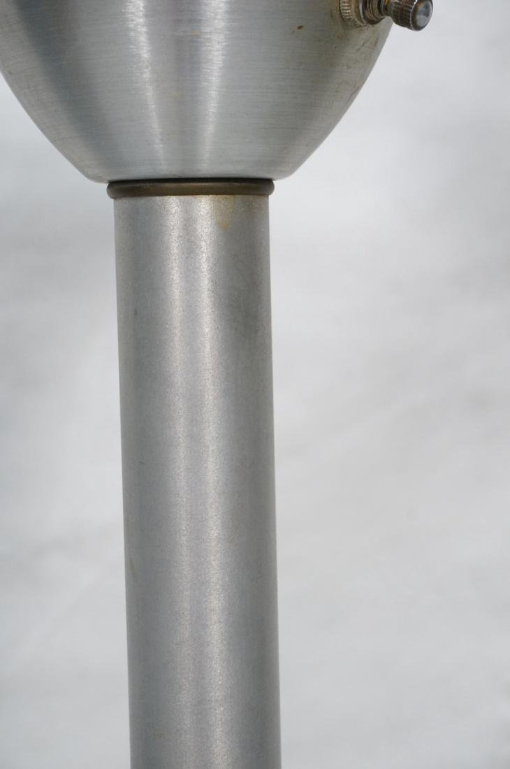 RUSSEL WRIGHT Style Anodized Aluminum Floor Lamp. - 4