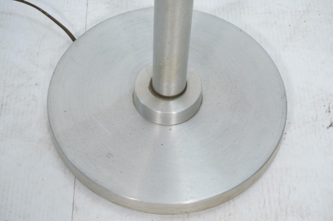 RUSSEL WRIGHT Style Anodized Aluminum Floor Lamp. - 5