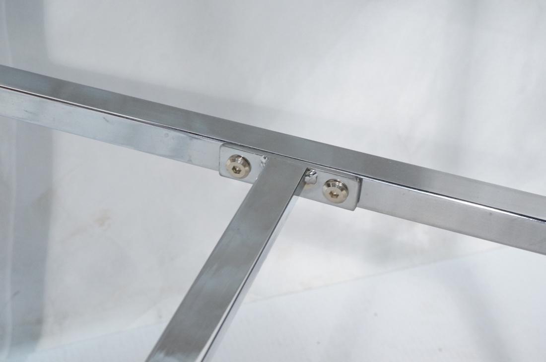 Pr Contemporary Chrome Tube Bar Stools. Maroon tw - 10