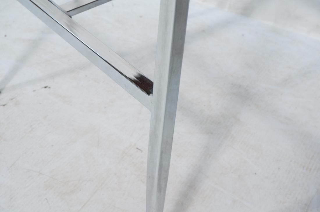 Pr Contemporary Chrome Tube Bar Stools. Maroon tw - 5