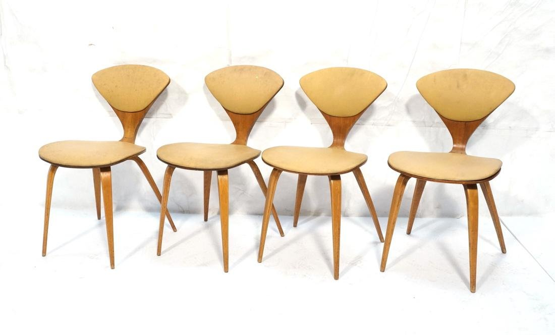Set of 4 NORMAN CHERNER Plycraft Dining Chairs. M