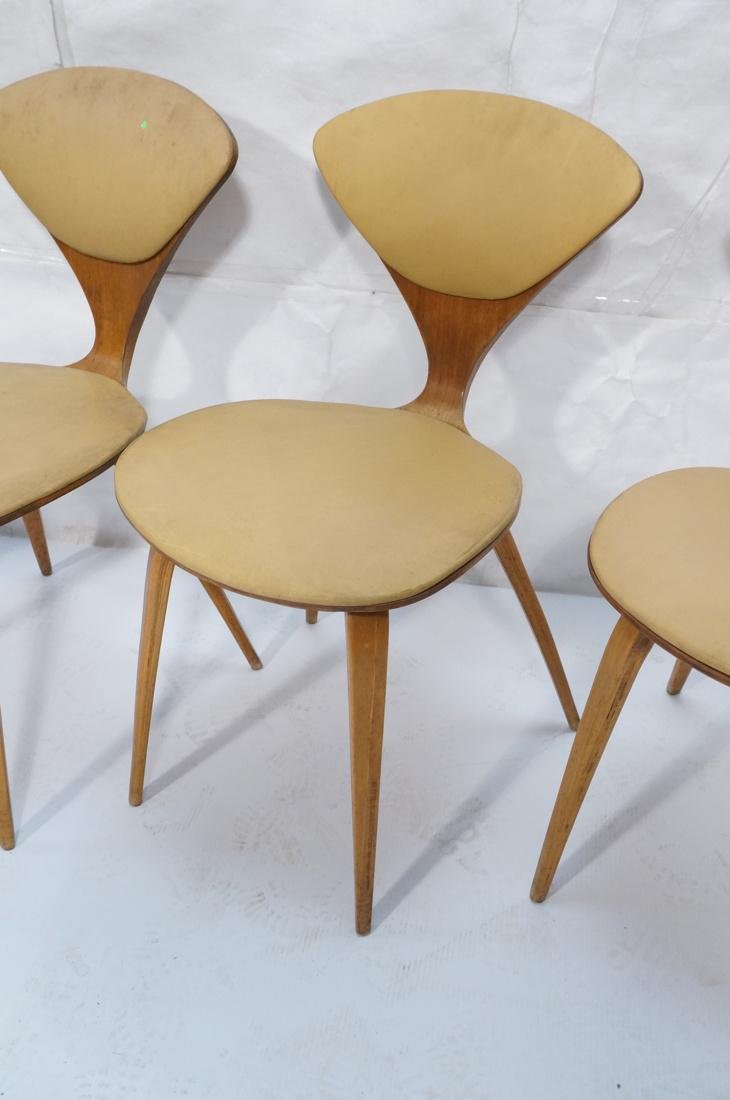 Set of 4 NORMAN CHERNER Plycraft Dining Chairs. M - 3