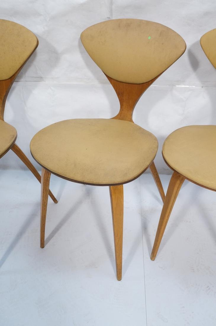 Set of 4 NORMAN CHERNER Plycraft Dining Chairs. M - 4