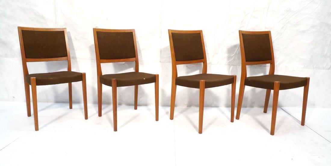 Set of 4 SVEGARDS Swedish Teak Dining Chairs. Bro
