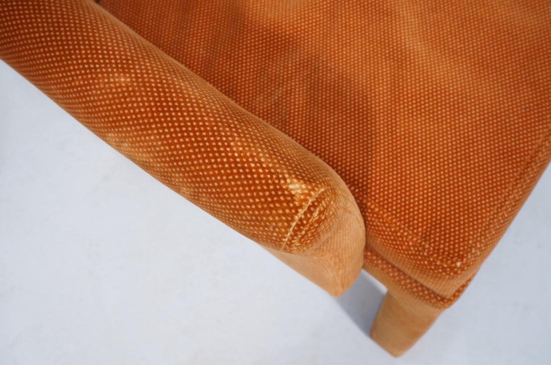 Set of 6 Orange Fabric Modernist Dining Chairs. C - 3
