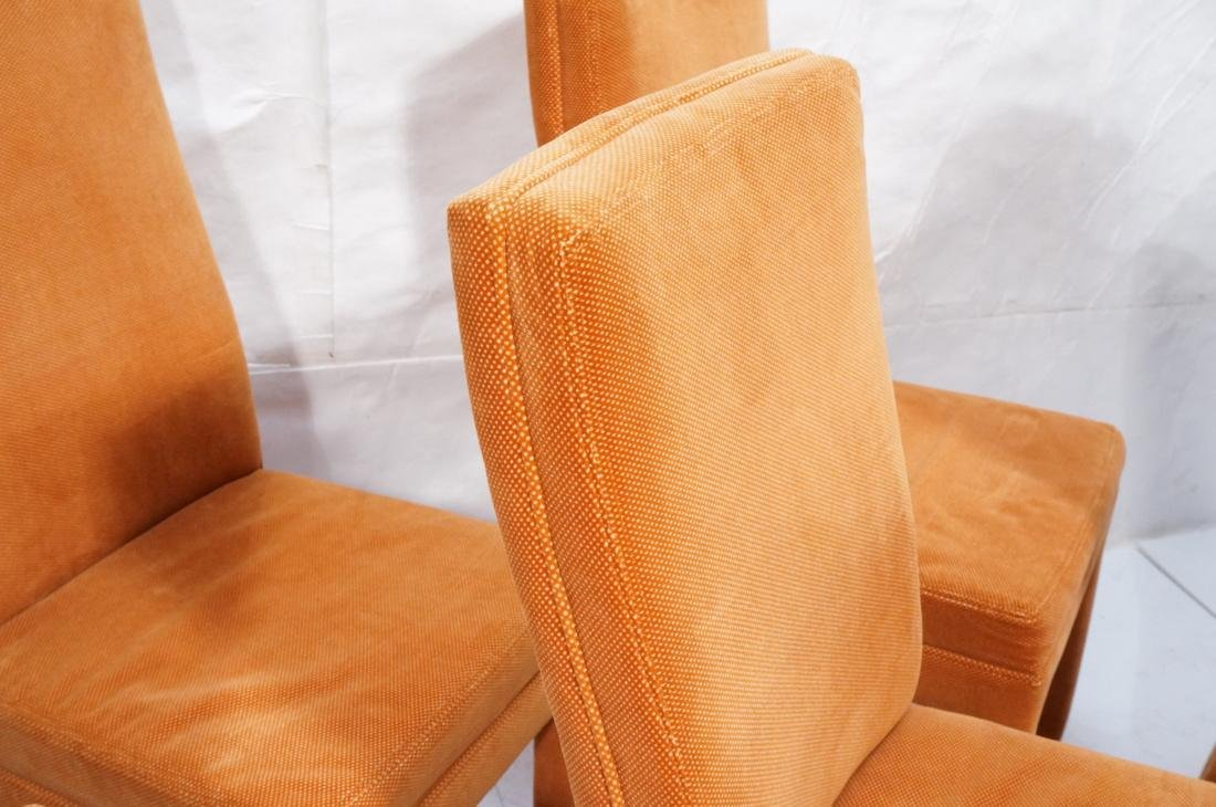 Set of 6 Orange Fabric Modernist Dining Chairs. C - 4