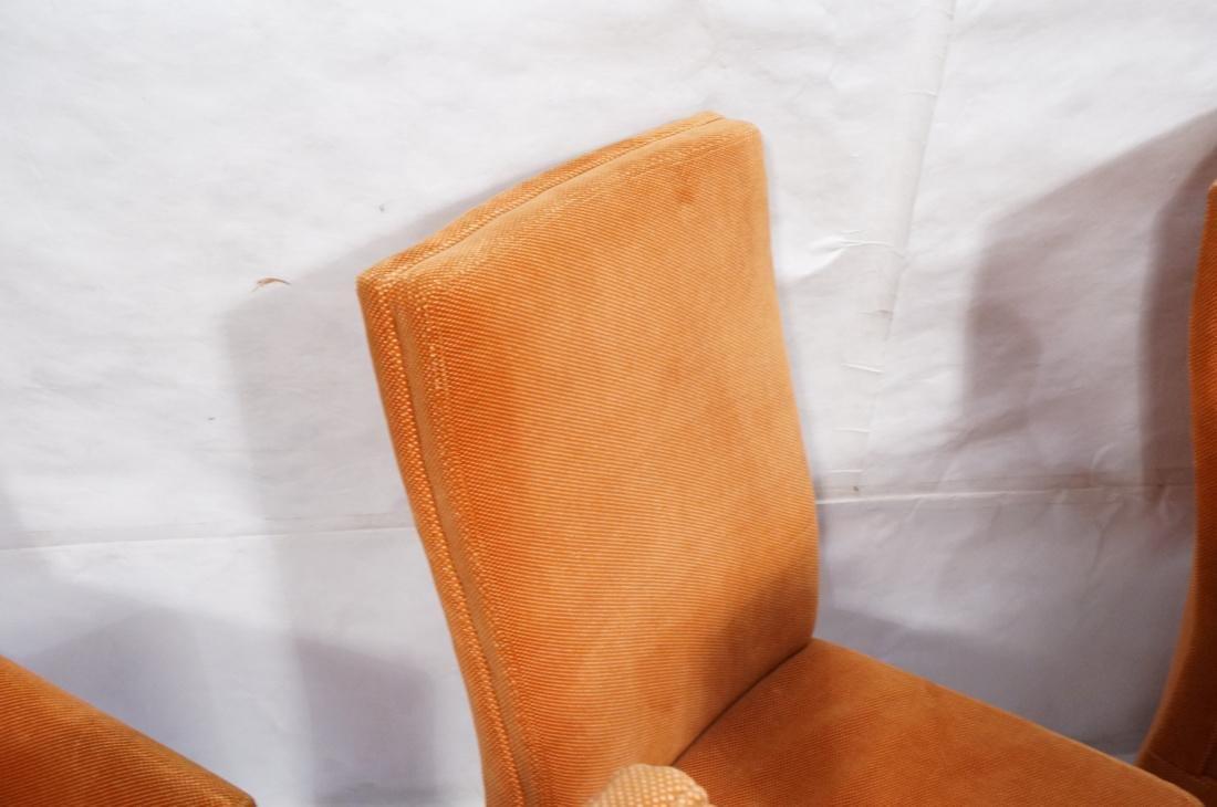 Set of 6 Orange Fabric Modernist Dining Chairs. C - 5