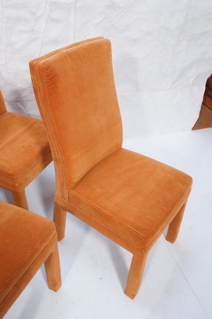 Set of 6 Orange Fabric Modernist Dining Chairs. C - 6