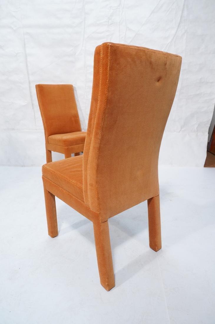Set of 6 Orange Fabric Modernist Dining Chairs. C - 7