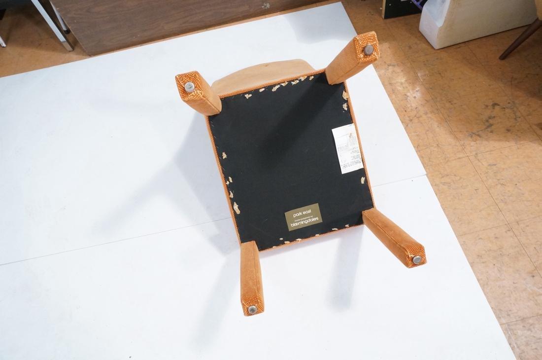 Set of 6 Orange Fabric Modernist Dining Chairs. C - 8