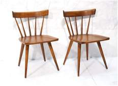 Set of 2 PAUL MCCOBB Maple Captains Chairs Taper
