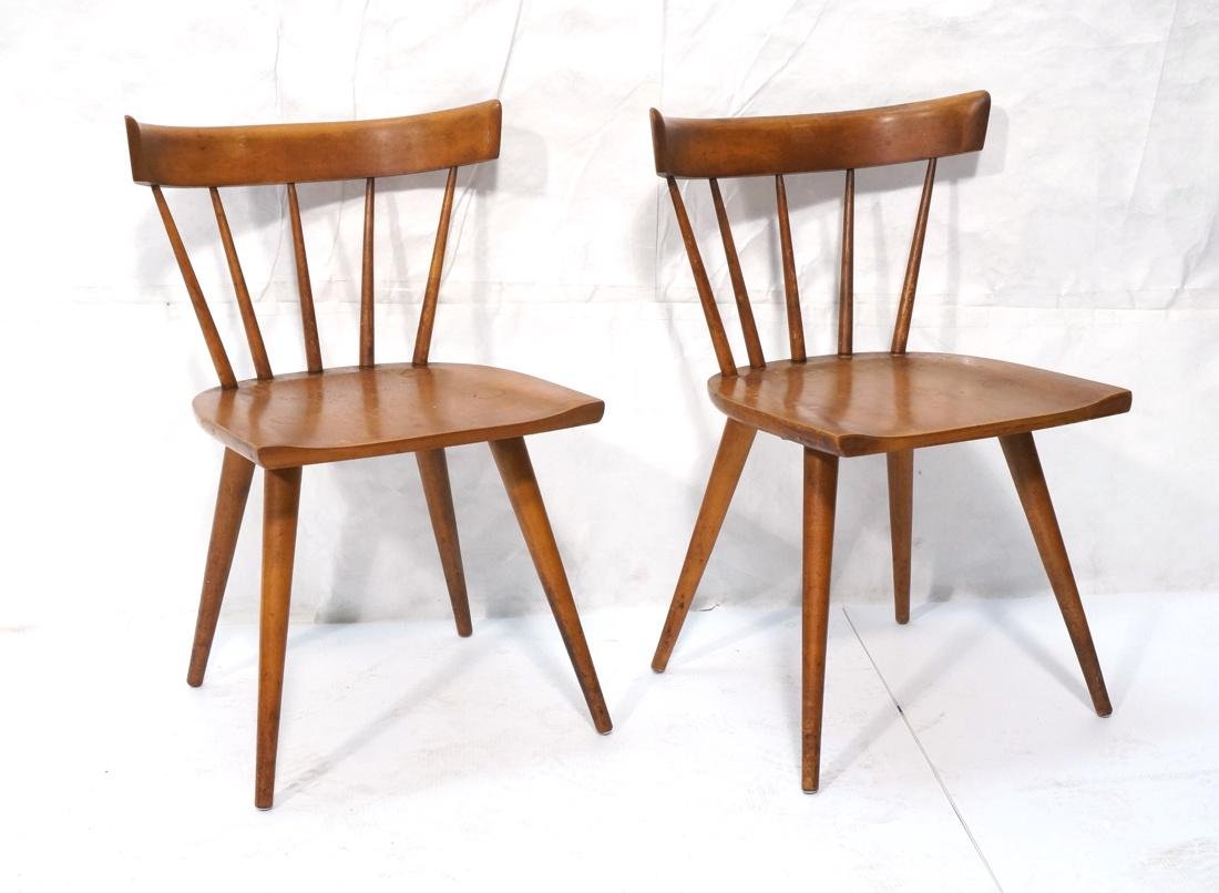Set of 2 PAUL MCCOBB Maple Captains Chairs. Taper