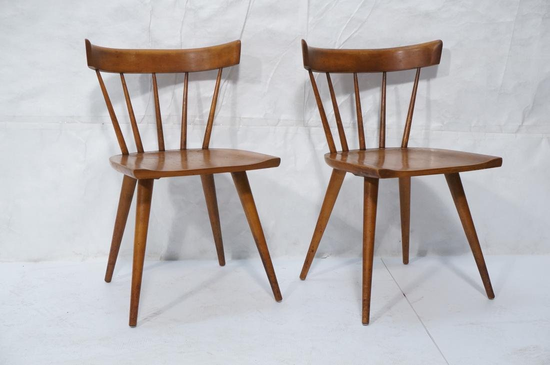 Set of 2 PAUL MCCOBB Maple Captains Chairs. Taper - 2