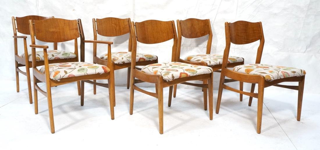 Lot of 6 Modernist Dining Chairs. 2 arm and 4 sid