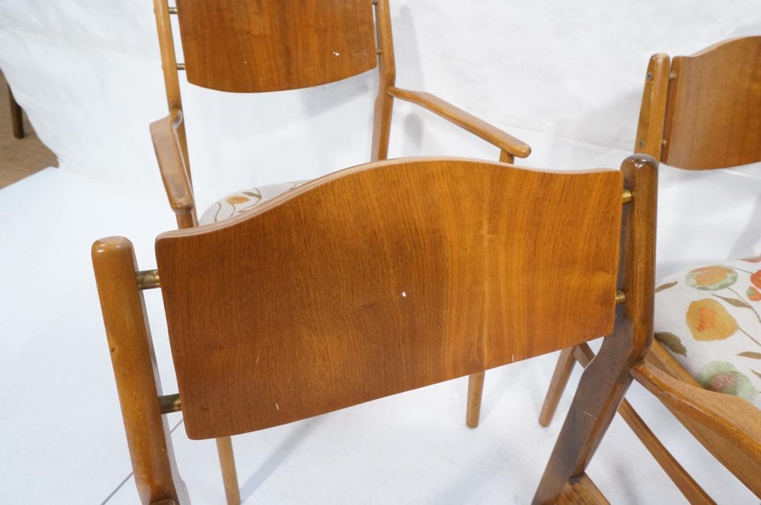 Lot of 6 Modernist Dining Chairs. 2 arm and 4 sid - 4