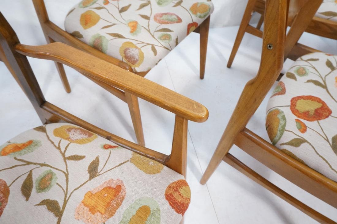 Lot of 6 Modernist Dining Chairs. 2 arm and 4 sid - 5