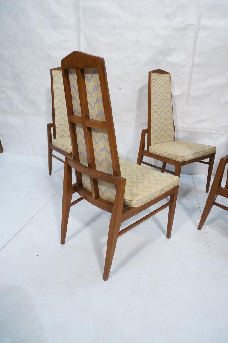 Set of 6 Tall Back American Modern Dining Chairs. - 3