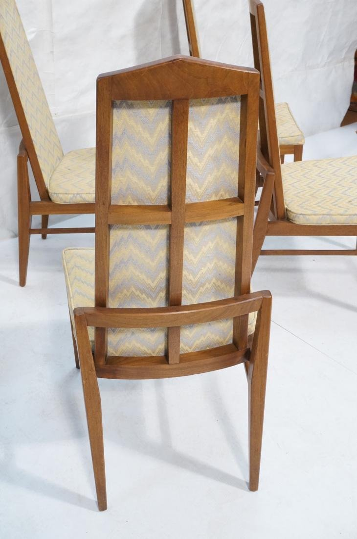 Set of 6 Tall Back American Modern Dining Chairs. - 4