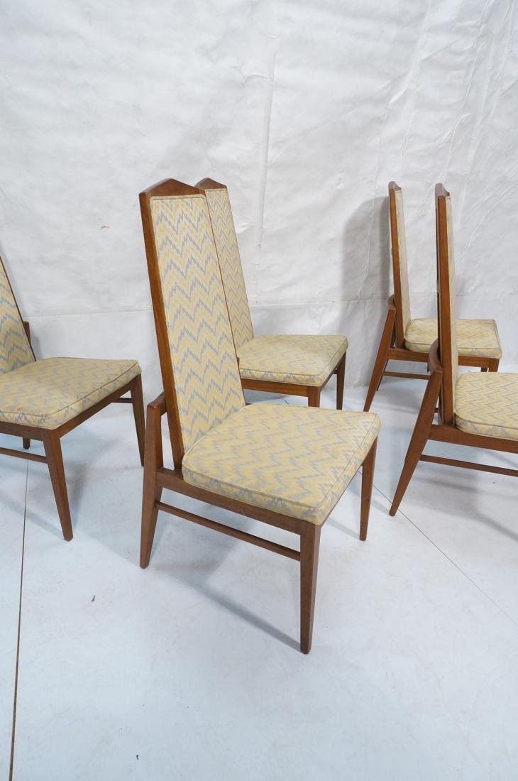 Set of 6 Tall Back American Modern Dining Chairs. - 5