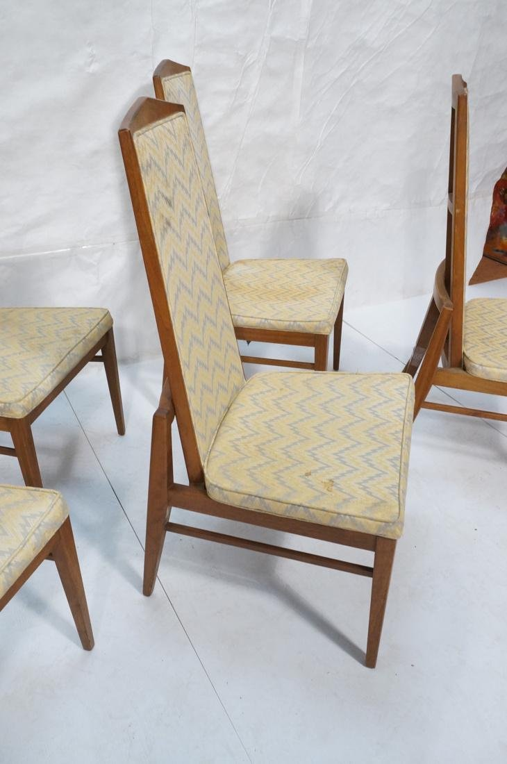 Set of 6 Tall Back American Modern Dining Chairs. - 6