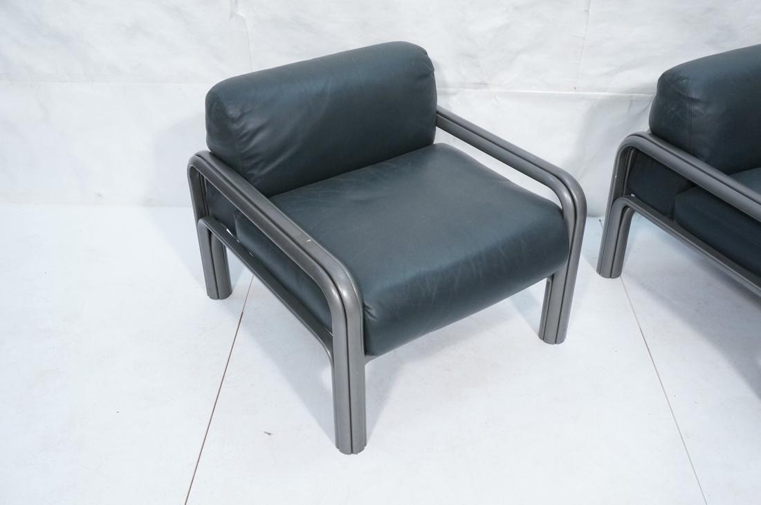 Pr KNOLL International GAE AULENTI Lounge Chairs. - 2