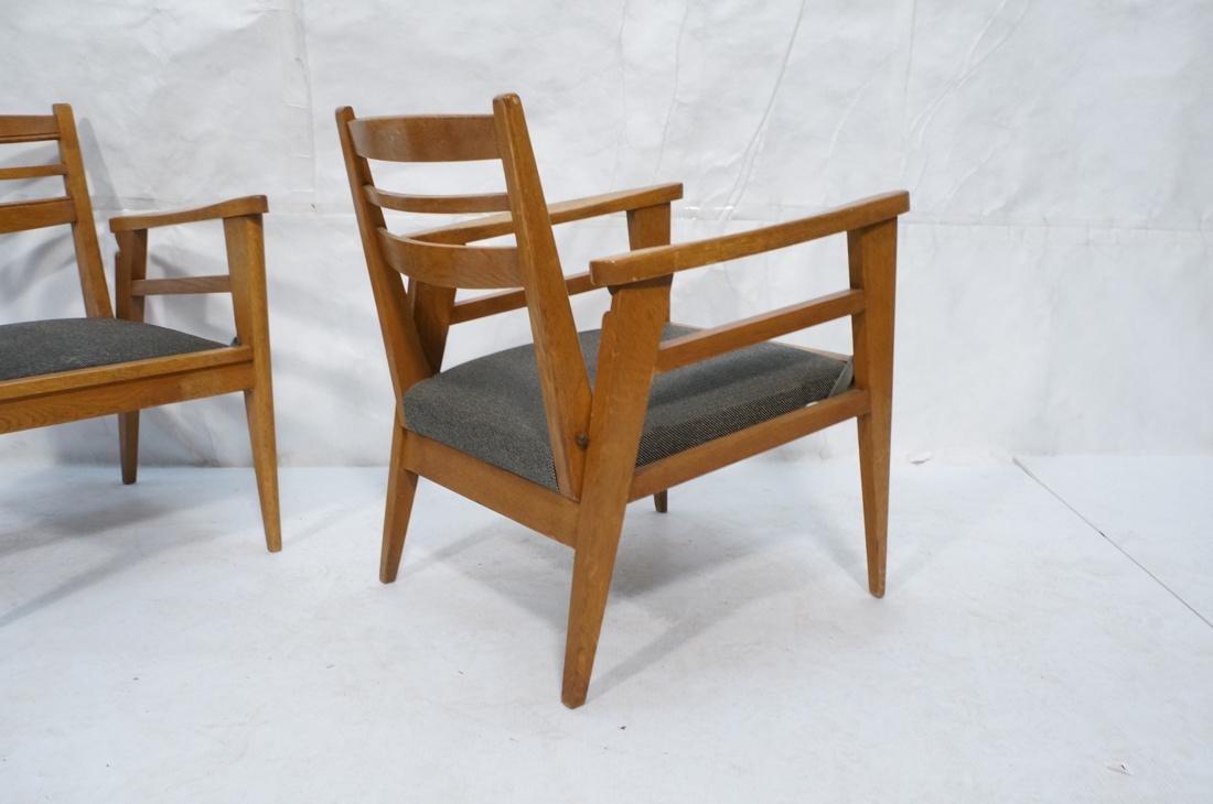 2 Modernist Oak Adjustable Side Lounge Chairs. Ad - 10